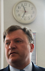 © London News Pictures. 01/05/2015. Shadow Chancellor ED BALLS during a visit to Garland Electronics in Woodside Park, North London ahead of the 2015 general election. Photo credit: Ben Cawthra/LNP