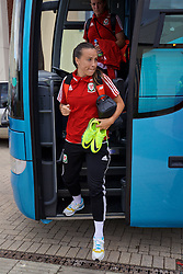 CARDIFF, WALES - Friday, August 19, 2016: Wales' Natasha Harding arrives at Rodney Parade ahead of the international friendly match against Republic of Ireland at Rodney Parade. (Pic by David Rawcliffe/Propaganda)