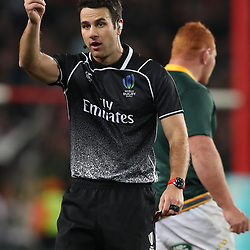 Referee:Ben O'Keeffe (NZ) during the 2018 Castle Lager Incoming Series 1st Test match between South Africa and England at Emirates Airline Park,<br /> Johannesburg.South Africa. 09,06,2018 Photo by (Steve Haag Sports)