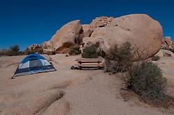 Tent Camping, Hidden Valley Campground, Joshua Tree National Park, California