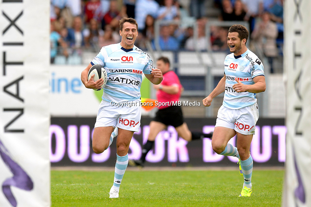 Essai Juan Imhoff / Brice Dulin - 23.05.2015 - Racing Metro / Castres - 26e journee Top 14<br />