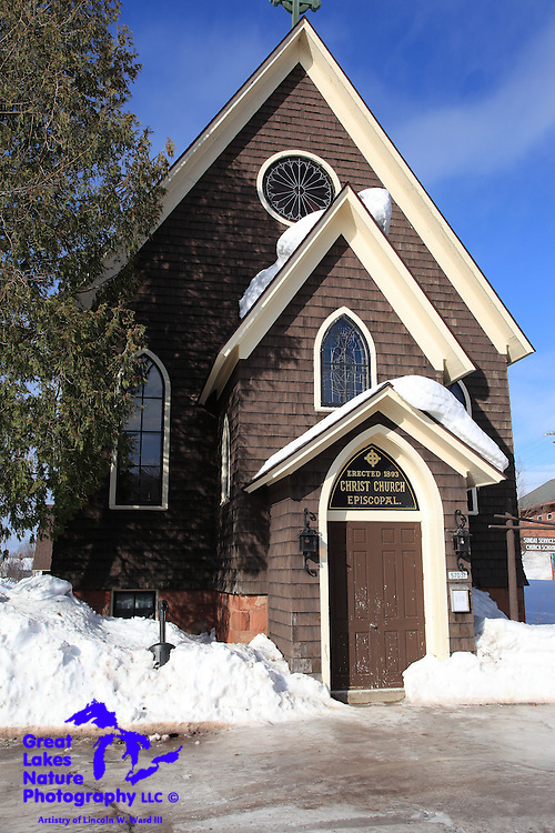 Still in use, the Christ Episcopal Church is one of the original churches of Calumet, Michigan. This very simple, yet elegant structure was built in 1893 and, in my opinion, remains quite beautiful to this wintry day.