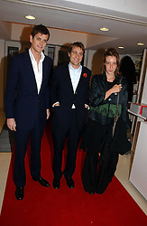 Left to right, the HON.ALEXANDER SPENCER-CHURCHILL and BEN & KATE GOLDSMITH at a party to celebrate the 90th birthday of Vogue magazine held at The Serpentine Gallery, Kensington Gardens, London on 8th November 2006.<br />