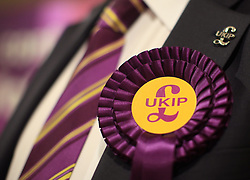 © Licensed to London News Pictures. London, UK. 14/05/2014. London, UK. UKIP Gerard Batten MEP speaks in a public meeting with UKIP Barking & Dagenham candidates for next week's local elections (22/05/2014). Mr Batten was victim of a vandalism act last night at his home in Forest Gate, east London, when a brick smashed a window in his living room.Photo credit: LNP