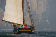 Pride of Baltimore II racing in the Skyline Race at New York Classic Week