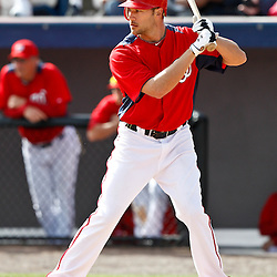 March 4, 2011; Viera, FL, USA; Washington Nationals outfielder Jonathan Van Every (71) during a spring training exhibition game against the Atlanta Braves at Space Coast Stadium.  Mandatory Credit: Derick E. Hingle