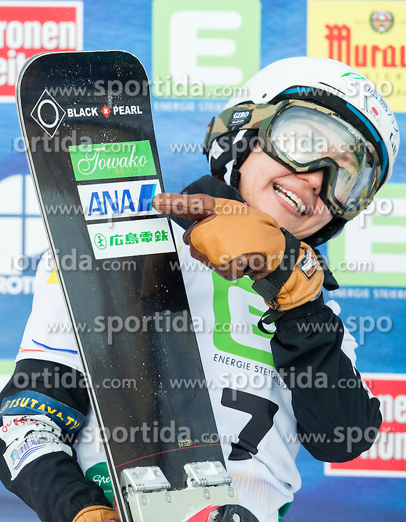 Tomoka Takeuchi of Japan after the  Small Final of the Ladies' Parallel Giant Slalom at FIS World Championships of Snowboard and Freestyle 2015, on January 23, 2015 at the WM Piste in Lachtal, Austria. Photo by Vid Ponikvar / Sportida