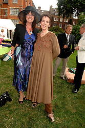 Left to right, actress VICKI MICHELLE and actress LYNNE MILLER at the Lady Taverners Westminster Abbey Garden Party, The College Garden, Westminster Abbey, London SW1 on 10th July 2007.<br /><br />NON EXCLUSIVE - WORLD RIGHTS