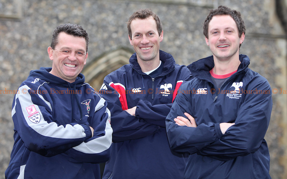 JAMES BOARDMAN / 07967642437.Hurstpierpoint College Sports L-R Rob Kift, Robin Martin-Jenkins and Nick Creed