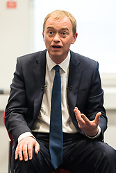 © Licensed to London News Pictures. 01/06/2017. London, UK. Leader of the Liberal Democrats TIM FARRON speaks with staff at Kingston Hospital. Photo credit: Rob Pinney/LNP