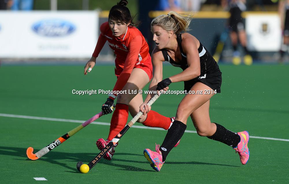Gemma Flynn. International Womens Hockey. New Zealand Black Sticks v Korea. Auckland. New Zealand. Saturday 29 March 2014. Photo: Andrew Cornaga / www.photosport.co.nz