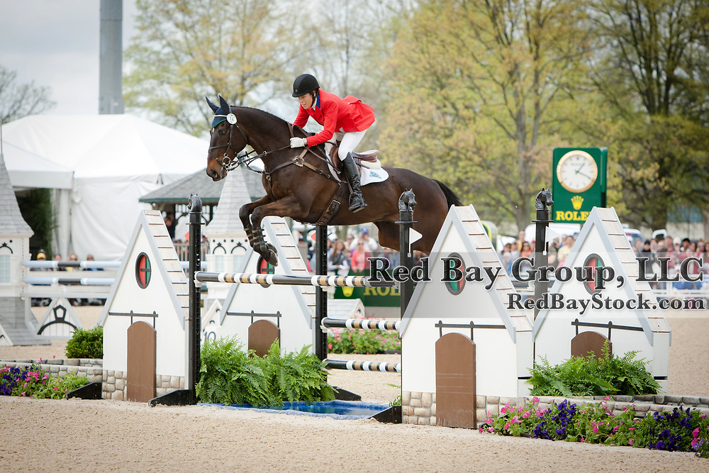 Beth Perkins and Sal Dali at the 2013 Rolex Kentucky Three-Day Event held at the Kentucky Horse Park in Lexington, KY.