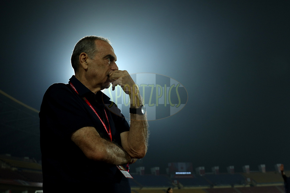 Avram Grant adviser of North East United FC  during match 45 of the Hero Indian Super League between NorthEast United FC and ATK  held at the Indira Gandhi Athletic Stadium, Guwahati India on the 12th January 2018<br /> <br /> Photo by: Saikat Das  / ISL / SPORTZPICS
