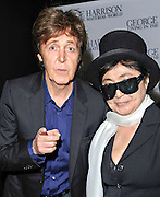 Sir Paul McCartney, Yoko Ono, arrive at the UK Premiere of 'George Harrison: Living In The Material World' at BFI Southbank