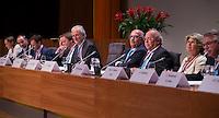 UTRECHT - Bestuur KNHB  met voorzitter Jan Albers.  Algemene Ledenvergadering  KNHB bij de Rabobank in Utrecht. . COPYRIGHT KOEN SUYK