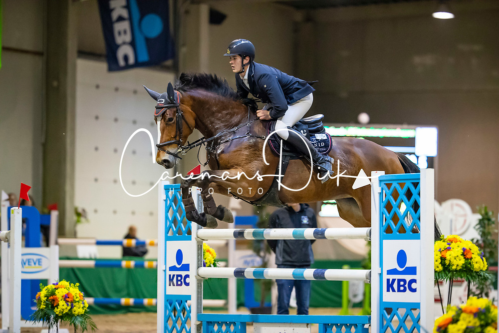 Bossaerts Nick, BEL, Z Golden Girl Hero Z<br /> Klasse Zwaar<br /> Nationaal Indoor Kampioenschap Pony's LRV <br /> Oud Heverlee 2019<br /> © Hippo Foto - Dirk Caremans<br /> 09/03/2019