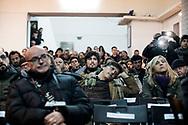 Napoli, Italia - Pubblico numerso per l'intervento di Jean-Luce M&eacute;lenchon, leader del partito France Insoumise, presso l'ex OPG di Napoli.<br /> Ph. Roberto Salomone