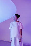 """Tokyo, September 24 2013 - Portrait of Mariko Mori at L'Espace Louis Vuitton Tokyo before the opening of her exhibition """"Infinite Renew""""."""