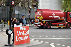Leave Brexit protesters outside Parliament, London UK 29 April 2019