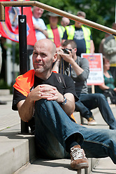 Strike action protests and rally against cuts to the public services pay and pensions in Sheffield<br /> 30th June  2011<br /> Images © Paul David Drabble