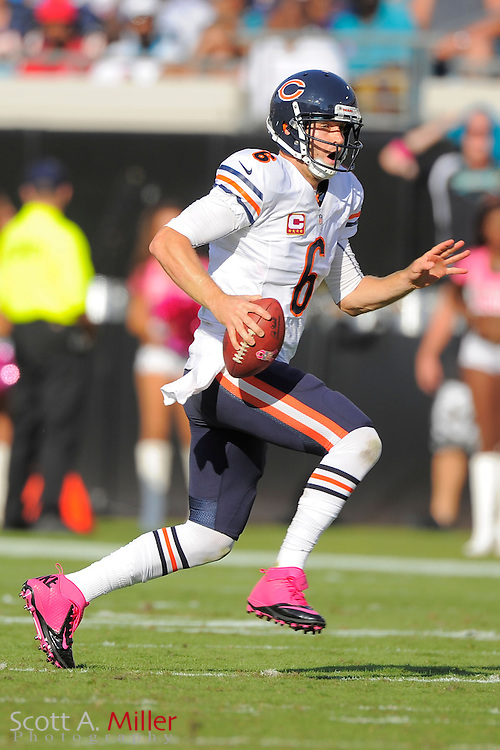 Chicago Bears quarterback Jay Cutler (6) during the Bears 41-3 win over the Jacksonville Jaguars at EverBank Field on Oct. 7, 2012 in Jacksonville, Florida. ..©2012 Scott A. Miller..