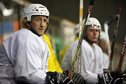 Tomaz Vnuk at second ice hockey practice of HDD Tilia Olimpija on ice in the new season 2008/2009, on August 19, 2008 in Hala Tivoli, Ljubljana, Slovenia. (Photo by Vid Ponikvar / Sportal Images)