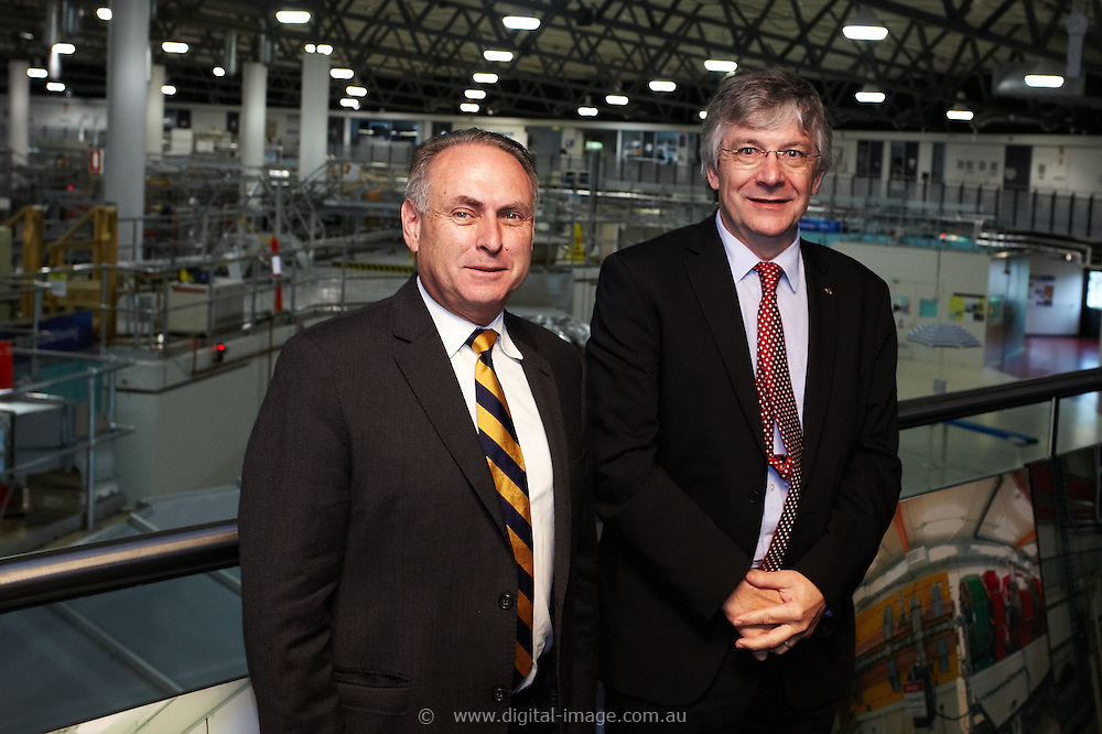 SENATOR, THE HON DON FARRELL, MINISTER FOR SCIENCE AND RESEARCH visiting the Australian Synchrotron, 11 April 2013, During the visit the Senator met with and was briefed by;<br />
