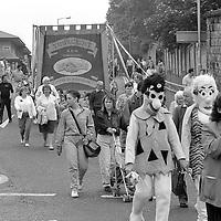 Thurcroft Branch banner. 1990 Yorkshire Miner's Gala. Rotherham.