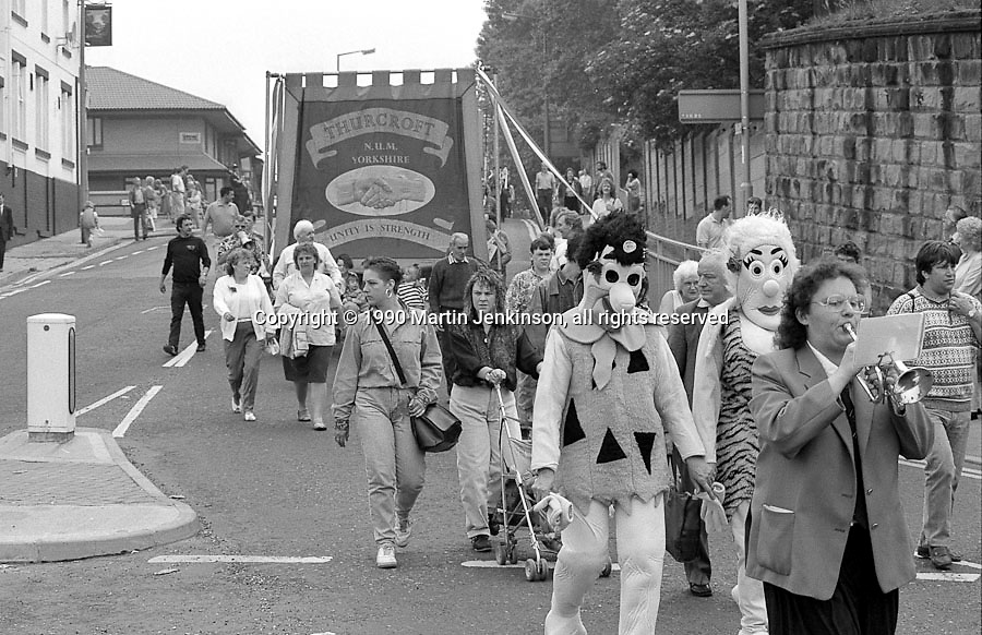 Thurcroft Branch banner. 1990 Yorkshire Miner's Gala. Rotherham.