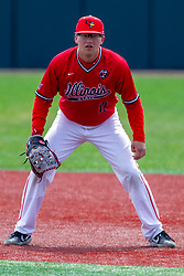 NORMAL, IL - April 08: Jack Butler during a college baseball game between the ISU Redbirds  and the Missouri State Bears on April 08 2019 at Duffy Bass Field in Normal, IL. (Photo by Alan Look)