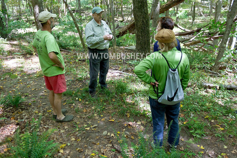 Warwick, New York - Hike at Fuller Mountain Preserve as part of the 2012 Hudson River Valley Ramble on Sept. 15, 2012. The preserve is owned and managed by the Orange County Land Trust.