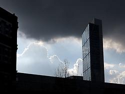 UK ENGLAND LONDON 1MAR14 - Broadgate Tower looms over Shoreditch, east London.<br /> <br /> <br /> <br /> jre/Photo by Jiri Rezac<br /> <br /> <br /> &Acirc;&copy; Jiri Rezac 2014
