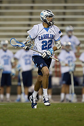 23 April 2010: North Carolina Tar Heels  midfielder Cryder DiPietro (22) during a 13-5 loss to the Maryland Terrapins in the first round of the ACC Tournament at Byrd Stadium in College Park, MD.