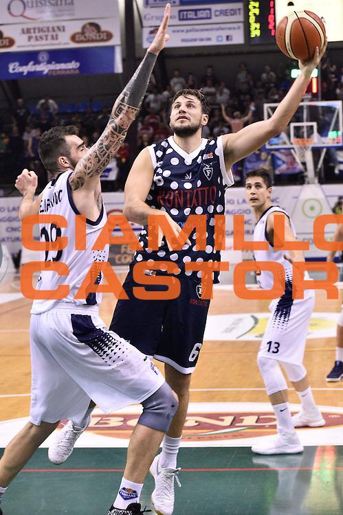 Stefano Mancinelli<br /> Bondi Pallacanestro Ferrara - Fortitudo Kontatto Bologna<br /> Campionato Basket A2 LNP 2016/2017<br /> Ferrara, 25/11/2016<br /> Foto Ciamillo-Castoria