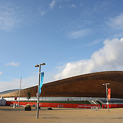 The Velodrome at Olympic Park, Stratford during the London 2012 Olympic games preparation. London, UK. 20th July 2012. Photo Tim Clayton