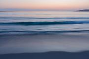 Surf at sunset, Carmel Beach, California 2008