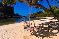 Ko Sammsao (island), Angthong National Marine Park (42 limestone islands) near Koh Samui (island), Gulf of Thailand, Thailand