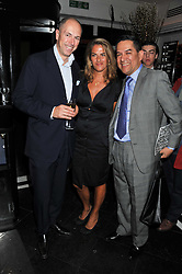 Left to right, DYLAN JONES, TRACEY EMIN and JESUS ADORNO at a dinner to celebrate the 30th anniversary of Le Caprice, Arlington Street, London SW1 on 4th October 2011.