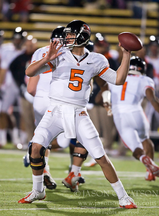 November 7, 2009; Berkeley, CA, USA;  Oregon State Beavers quarterback Sean Canfield (5) during the third quarter against the California Golden Bears at Memorial Stadium.