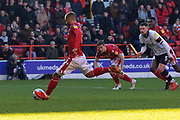 PENALTY Lewis Grabban scores from the spot during the EFL Sky Bet Championship match between Nottingham Forest and Luton Town at the City Ground, Nottingham, England on 19 January 2020.