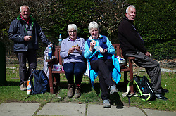 (c) Licensed to London News Pictures. <br /> 28/04/2017<br /> Goathland, UK<br /> <br /> Spectators line the route as they wait for riders taking part in the Tour De Yorkshire cycling race to pass through Goathland on Stage 1 of the race.<br /> <br /> Photo Credit: Ian Forsyth/LNP