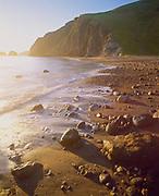 0603-3007 ~ Copyright: George H.H. Huey Beach at Scorpion Anchorage at sunrise.  East end Santa Cruz Island, Channel Islands National Park, California.