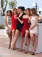 Actresses Inma Cuesta, Emma Suarez, Rossy de Palma, Adriana Ugarte and Michelle Jenner at the Julieta film photo call at the 69th Cannes Film Festival Tuesday 17th May 2016, Cannes, France. Photography: Doreen Kennedy