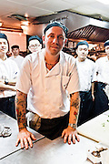 Head chef and team in the kitchen at M on the Bund.
