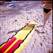 Picture taken with a Holga. Surf rescue on the beach Manly Beach.