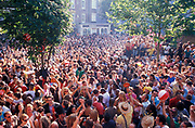 The crowds at Good Times sound system, Notting Hill Carnival, London 2006