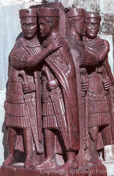 ITALY, VENICE Basilica San Marco (St. Mark's Cathedral) built in 1063-73 with a 4thc. porphyry sculpture group known as the 'Tetrarchs'