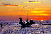 PHILIPPINES, MINDANAO Fishing Boats at sunset nr Zamboanga