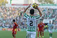 Betis player Molinero throw of during the match between Real Betis and Recreativo de Huelva day 10 of the spanish Adelante League 2014-2015 014-2015 played at the Benito Villamarin stadium of Seville. (PHOTO: CARLOS BOUZA / BOUZA PRESS / ALTER PHOTOS)