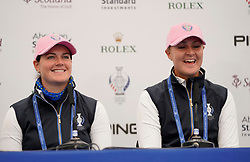 Auchterarder, Scotland, UK. 12 September 2019. Press conference with Team Europe players for the 2019 Solheim Cup. Pictured; Iain Masterton/Alamy Live News
